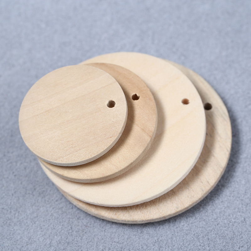 Charms-15-50mm Disc Diy Bohemian Earring Pendants Jewelry Round Handmade Color Wood 10pcs/Lot