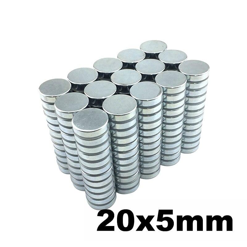 N42 NdFeB aimant disque mince Dia. 20x5mm forte néodyme aimants capteur terres rares aimants de laboratoire permanents 20-300 pièces