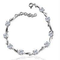 SexeMara925 zilver vrouwelijke mode acht hart acht pijlen liefde lucky charm plated armband