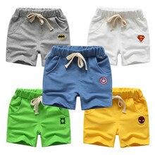 Летние детские шорты; хлопковые шорты для мальчиков и девочек; брендовые шорты «мстители»; трусы для малышей; Детские пляжные шорты; спортивные штаны для малышей
