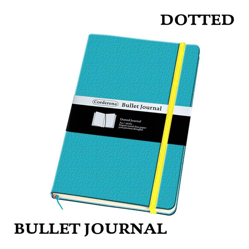 Dot Grille Couverture Rigide A5 PU Portable bande élastique Voyage Puntos Pointillé Bullet Journal Bujo Pointu Blocs-Notes
