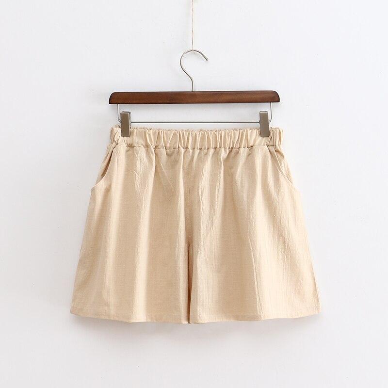2017 Nieuwe Zomer Stijl Vrouwen Shorts Linnen Eenvoud Hot Shorts Plus Size Elastische Taille Wijde Pijpen Broek