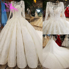 Свадебное платье AIJINGYU, сделано в Китае, атласные новые платья, турецкий оптовый завод, дизайнерское платье, 2 шт., свадебное платье