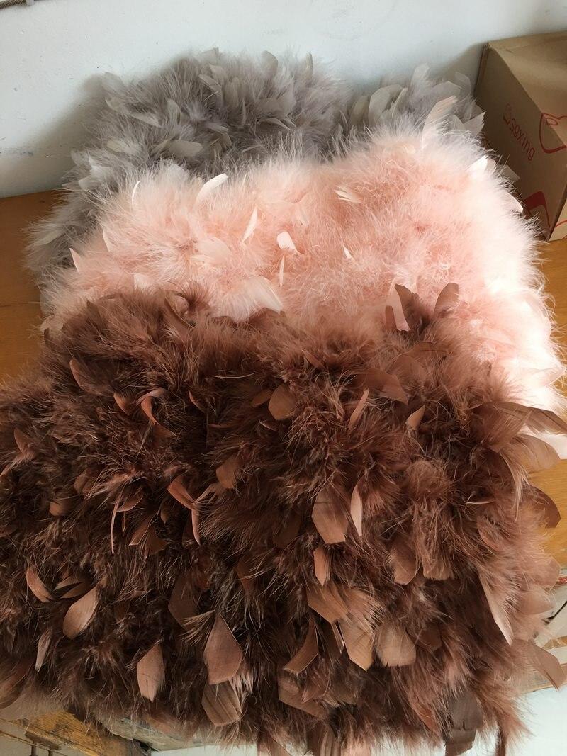 0b4ce65df2395e € 29.75 49% de réduction|Aliexpress.com: Acheter Femmes hiver jupe 2018  automne mini naturel de fourrure de dinde plume d'autruche fille jupe mode  ...