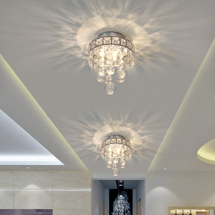 Hot Luminaria De Techo Modern LED Crystal Ceiling Lights Living Room Indoor Lighting Luminarias Para Sala Light Hallway Lamp - credit200 store