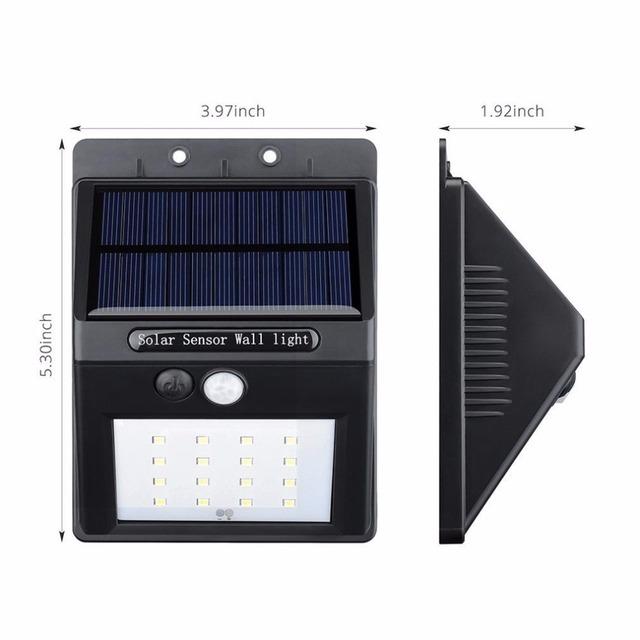 16 LED de energía Solar luz de la noche impermeable del jardín exterior seguridad pared del Sensor de movimiento camino de acceso inalámbrico, escaleras luz