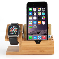 Halterung Docking Station Wooden Phone Charge Stands Holder 3 USB Port Charger For Apple Watch For