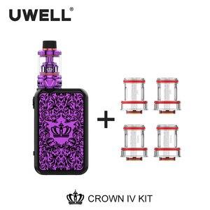 Image 4 - UWELL Crown 4 Kit & Coil Set 5ml Crown 4 Tank 5 200W Crown Box Mod Crown IV Kit Electronic Cigarette Vaporizer