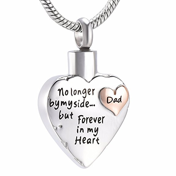 JJ001 Rose Gold Heart With Engraving Dad/Mom/Son/Grandpa