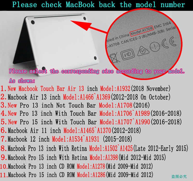 حافظة لجهاز ابل ماك بوك اير برو ريتينا 11 12 13 15 انش لاجهزة ماك بوك جديد A1932 Pro 13 15 مع شريط لمس + غطاء لوحة مفاتيح