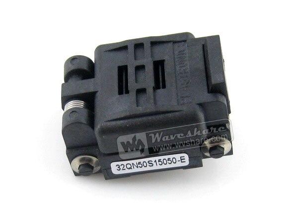 ФОТО Plastronics IC Test Socket Adapter 32QN50S15050 0.5mm Pitch QFN32 MLP32 MLF32 Package Free Shipping