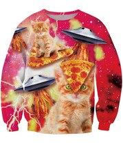 Galaxy Pizza Space Cat Sweatshirt