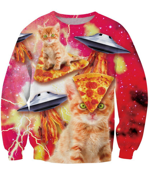 Galaxy Pizza Space Cat Sweatshirt