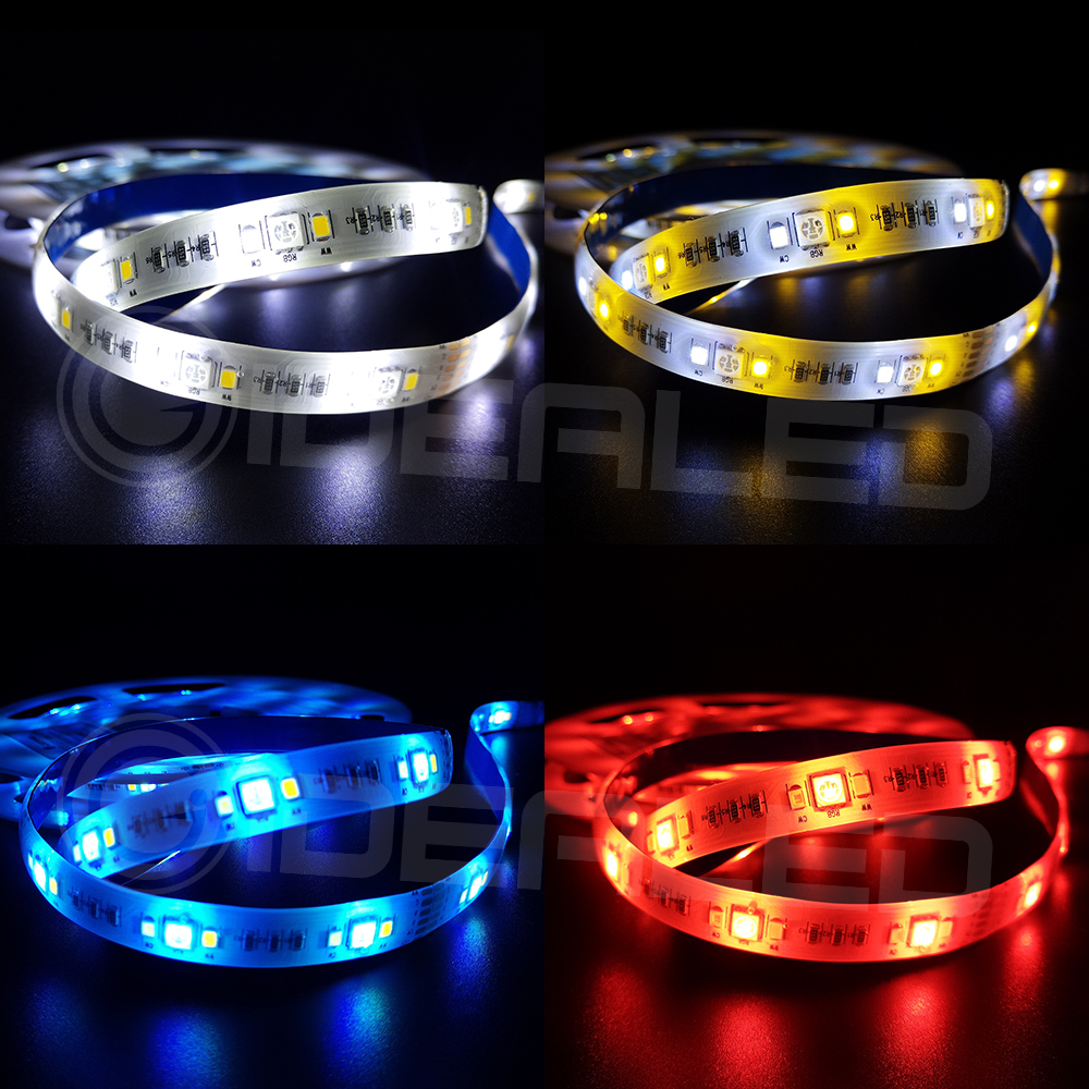 Home Smart RGB+CCT LED Strip Lights 12V zigbee RGB+Cold White+Warm White Changing Color 5m Waterproof 6 wire Full Color