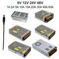 HOTOOK AC 110V 220V to DC 5V 12V 24V 48V Led Strip Power Adapter Supply 5A 8A 10A 20A 30A 60A Switch Transformer Free Shipping