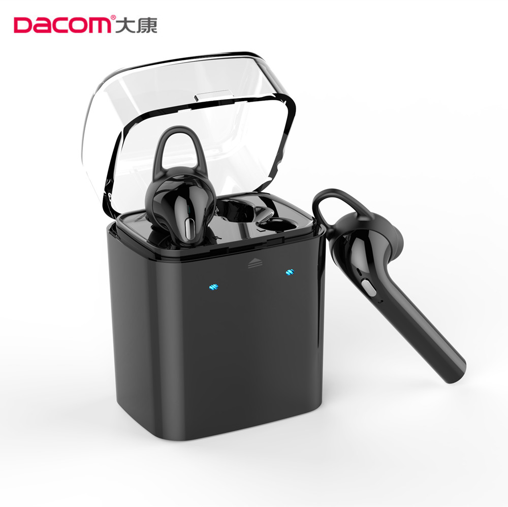 Dacom Twins Bluetooth Earphone for iPhone 7 6 plus airpods True Wireless Stereo Earbuds Double-ear box gift headset black white dacom carkit wireless bluetooth headset earphone with mic car charger for apple iphone 7 plus airpods android xiaomi samsung lg
