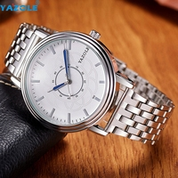 YAZOLE Relogio Masculino Men Watch Top Brand Luxury Famous Stainless Steel Strap Quartz Watch 2017 S4