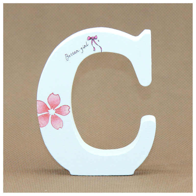 1pcs White Wooden Number 0 9 Bridal Wedding Birthday Party: 1pcs 10X10CM White Wooden Letters English Alphabet Word