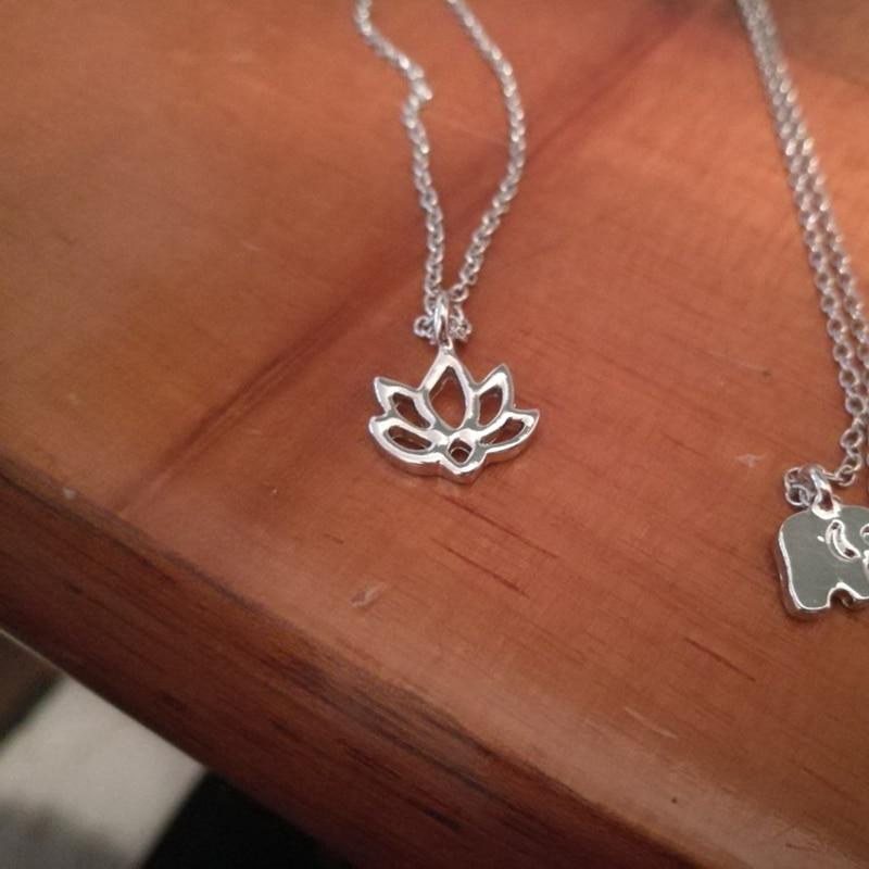 Good Karma Lotus Necklace Gold Color Pendant Necklace Clavicle Chain