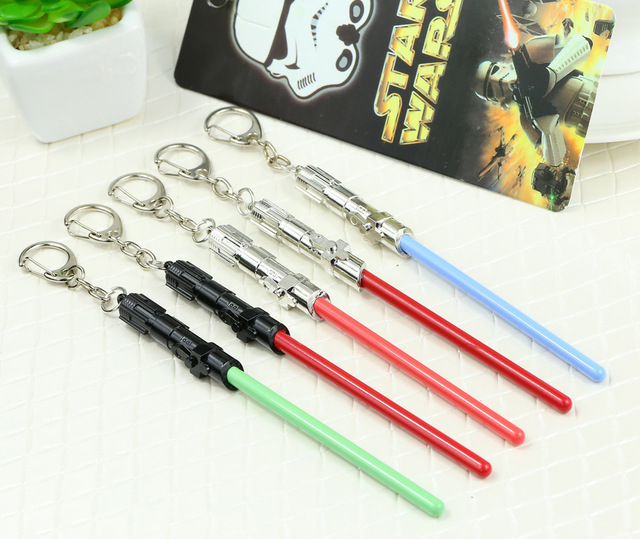 Star Wars keychain Lightsaber New the Force Awakens keychain lightsaber
