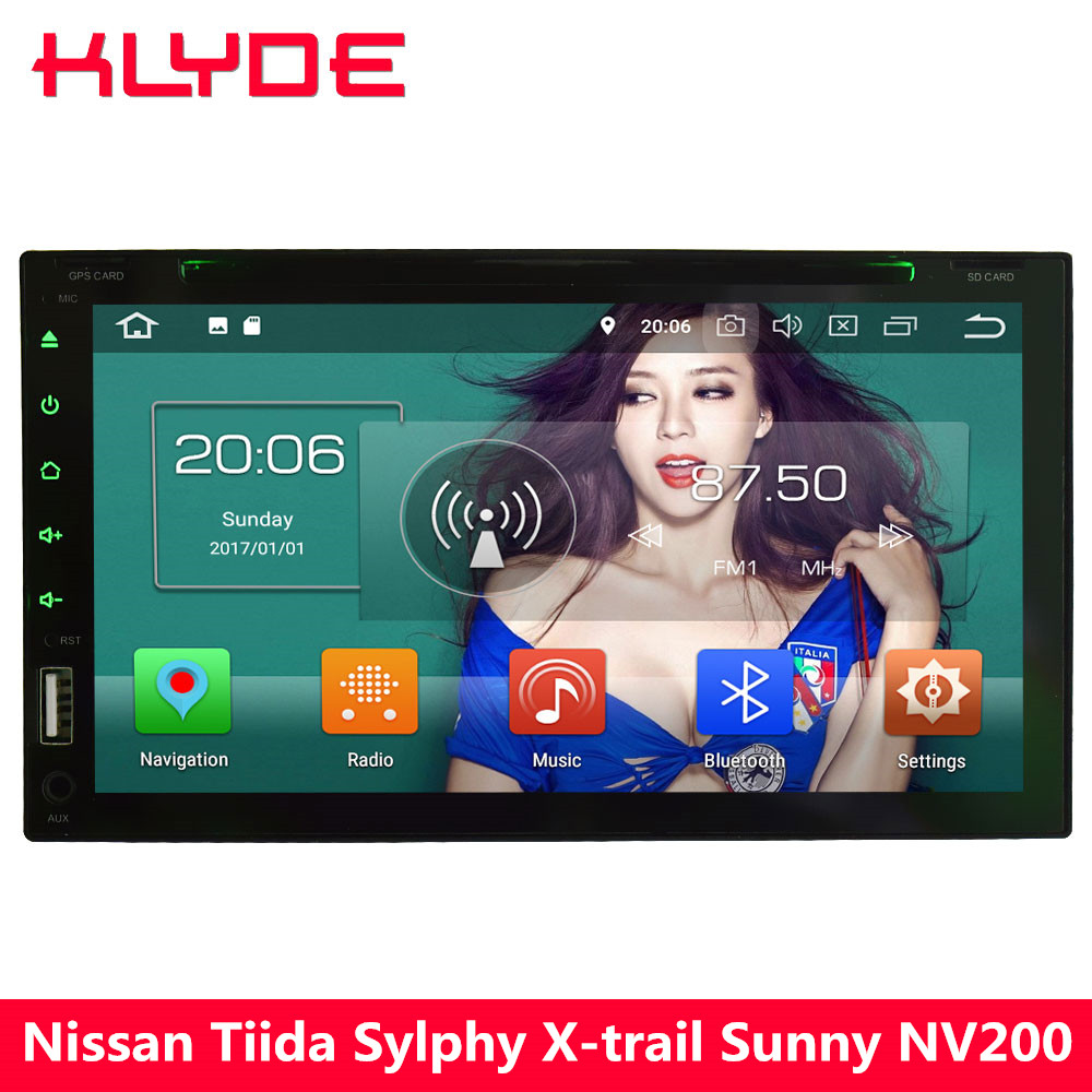 KLYDE 4G Octa Core Android 8.0 4 GB RAM 32 GB ROM voiture lecteur DVD Radio pour Nissan Tiida Sylphy x-trail ensoleillé patrouille Versa Micra