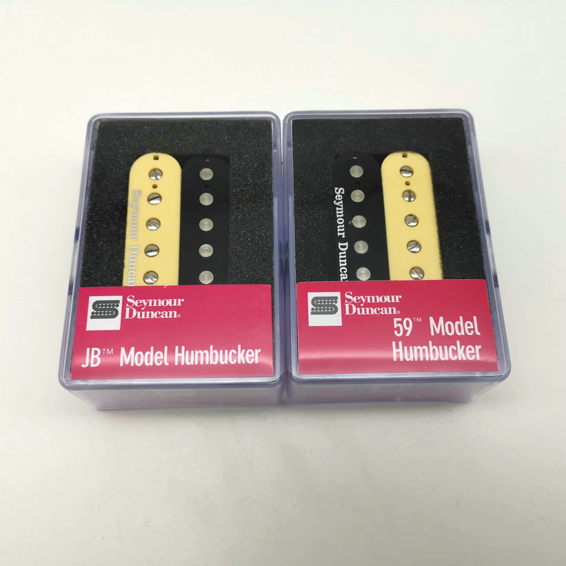Guitar Pickups Humbucker Pickup SH1n 59 And SH4 JB 4C Guitar Pickups Set Zebra / Black With Packaging