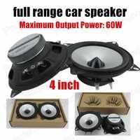 1 par de altavoces de audio estéreo para coche de 4 pulgadas, altavoz de espuma de goma de gama completa para coche, envío gratis, 2x60 W, superventas