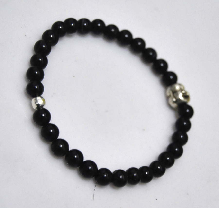 bu onyx buy and bracelet black look product silver veterans bullet brass bracelets help silverblack today new