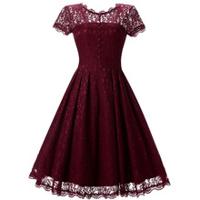 Mini robe dentelle d'été