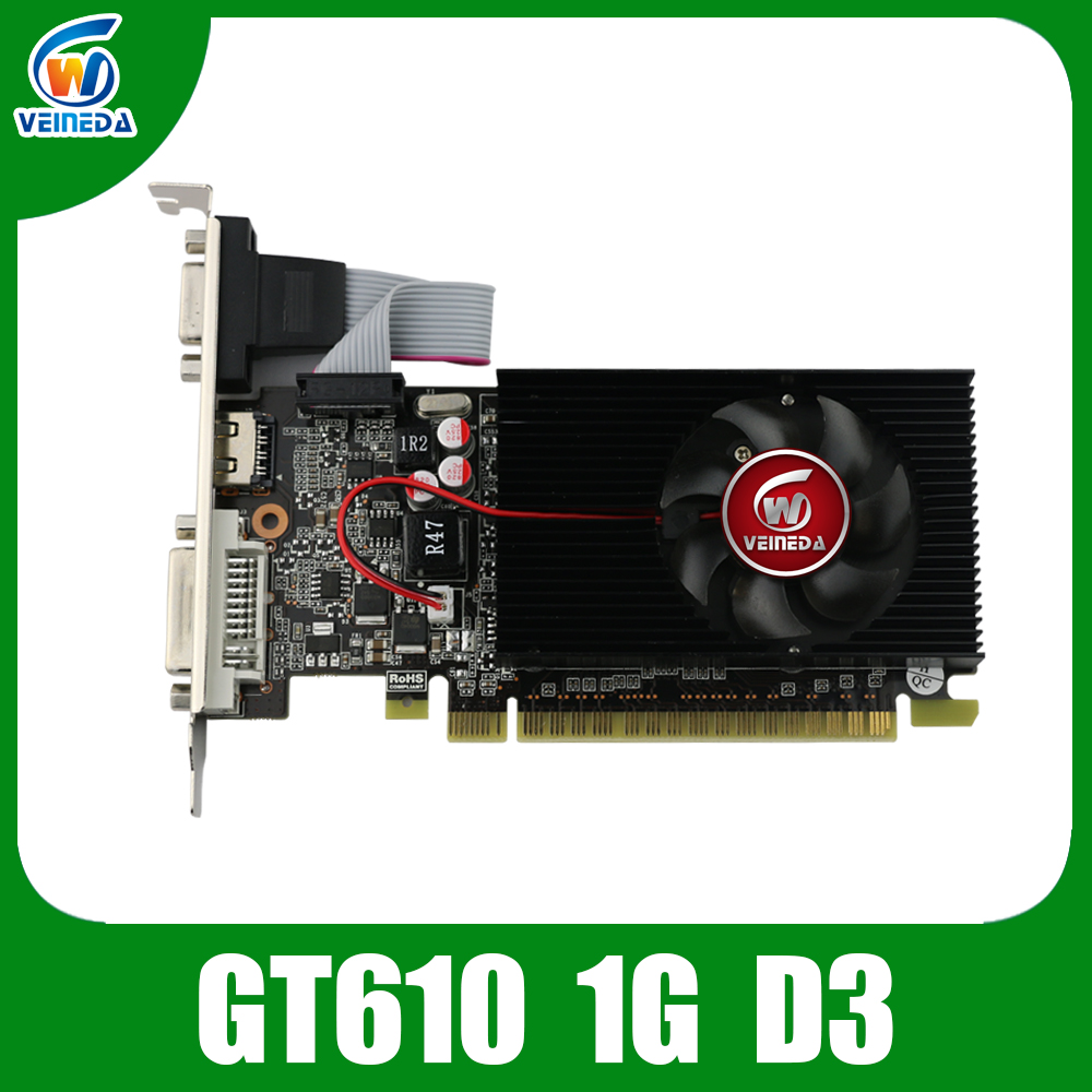 Veineda Graphic-Card Display Geforce-Games Nvidia Video GT610 1GB Vga DDR3 Ddr3-700/1000mhz