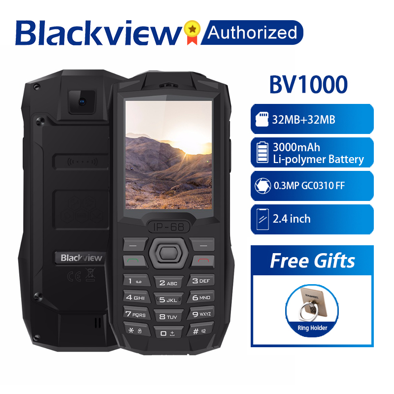 Blackview BV1000 IP68 Waterproof Outdoor Mobile Phone 2.4 MTK6261D Wireless FM Radio 3000mAh 0.3MP Dual SIM Rugged CellphoneBlackview BV1000 IP68 Waterproof Outdoor Mobile Phone 2.4 MTK6261D Wireless FM Radio 3000mAh 0.3MP Dual SIM Rugged Cellphone