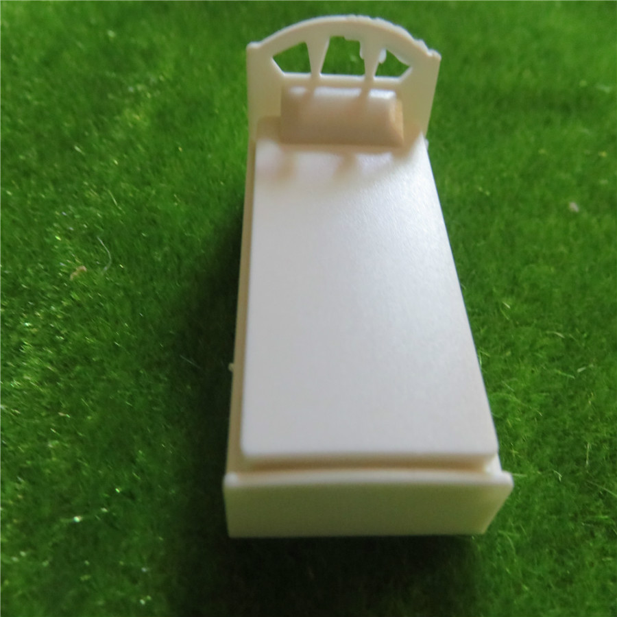 Model Building Hot Sale 5pcs/lot Scale 1/50 Architectural Plastic White Model Making Scale Model Bed Punctual Timing