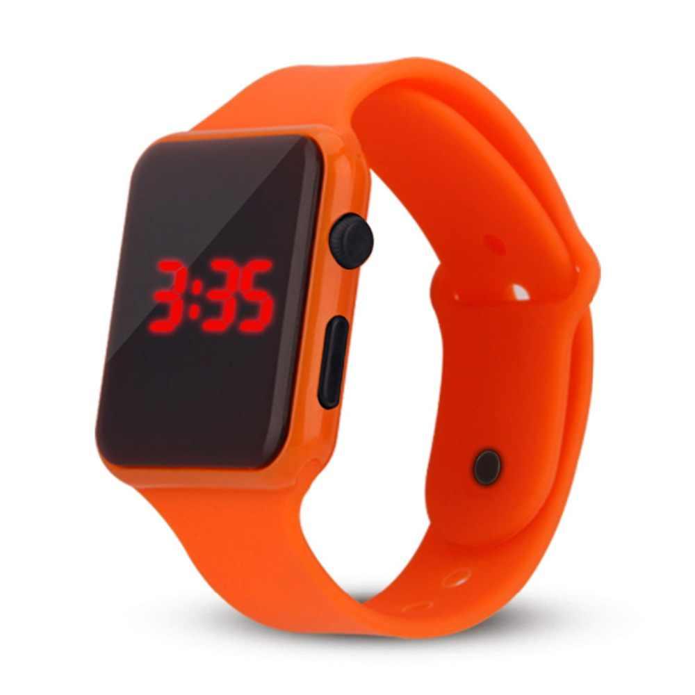 ילדי אופנה שעון צבעוני Led ילד ילדה תלמיד אלקטרוני ספורט שעונים ילדי שעון דיגיטלי שעוני יד Mens שעון