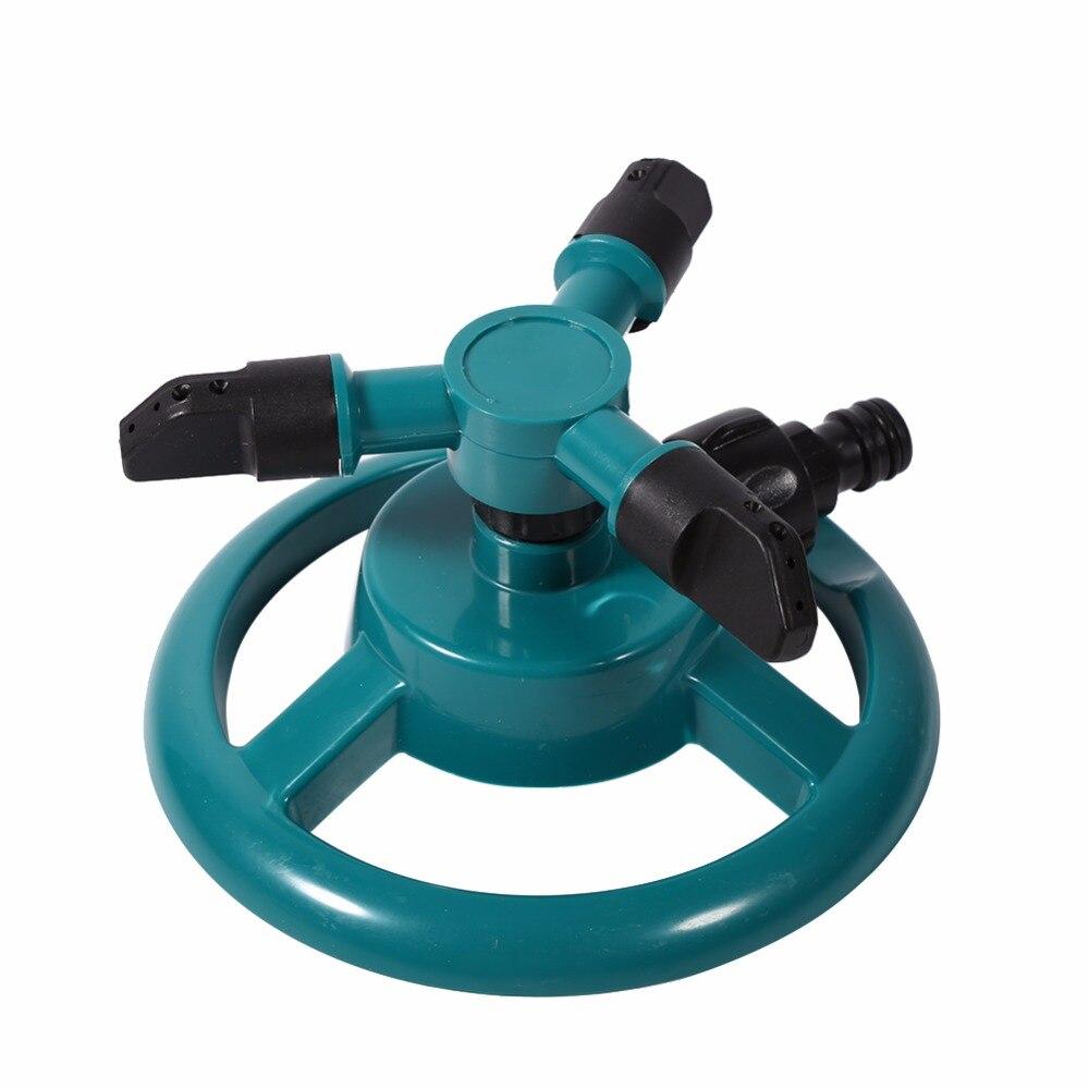 Garden Sprinkler 360 Degrees Rotating Watering System Sprinkler Irrigation 3 Nozzle Pipe Hose For Gardening Tools And Equipment