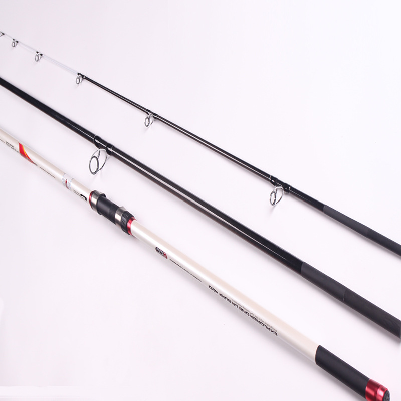 2017 New 4.2M Lure Rod 3 pieces for surfcasting Fishing Rod Carbon Fiber Peche lure weight spinning ultralight sea rod 100g-200g ecooda spinning casting fishing rod 50 200g lure weight portable super light carbon fiber fishing rod