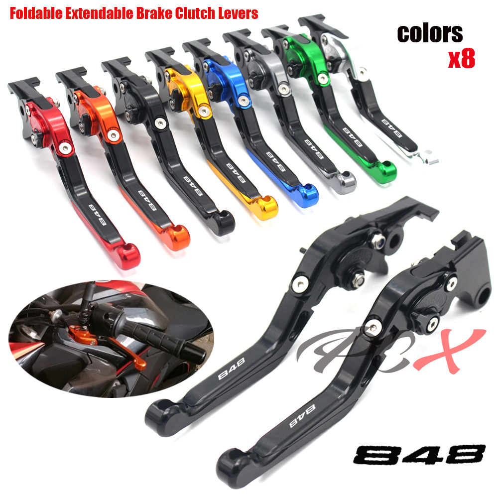 For DUCATI 848 / EVO 2007 2008 2009 2010 2011 2012 2013 CNC Motorcycle Folding Retractable Brake Clutch HandleFor DUCATI 848 / EVO 2007 2008 2009 2010 2011 2012 2013 CNC Motorcycle Folding Retractable Brake Clutch Handle