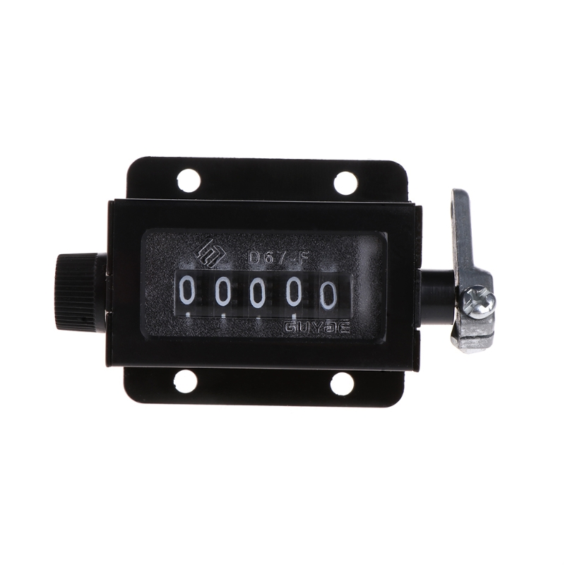 5 Cijfers D67-f Mechanische Pull Stroke Klik Counter Zwarte Behuizing Resettable Hot