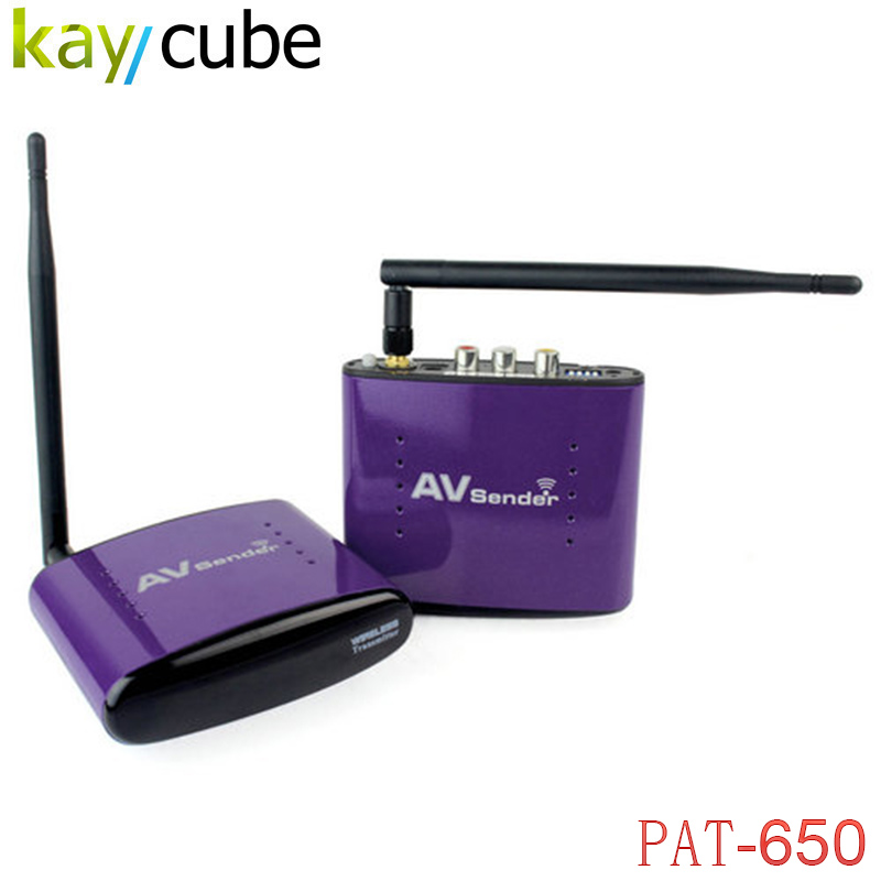 PAT-650 5.8GHz 300m Wireless STB AV Sender TV Audio Video Transmitter & Receiver Set for IPTV DVD with EU US UK AU Plug PAT650 wireless av sender and receiver pat 350 2 4g 250m wireless a v audio video sender transmitter and receiver with eu us uk au plug