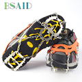 BSAID 18 Tooth Non-slip Claws Ice Gripper Outdoor Climbing Antiskid Crampons Stainless Steel Ski Snow Cleats Hiking Shoe Covers