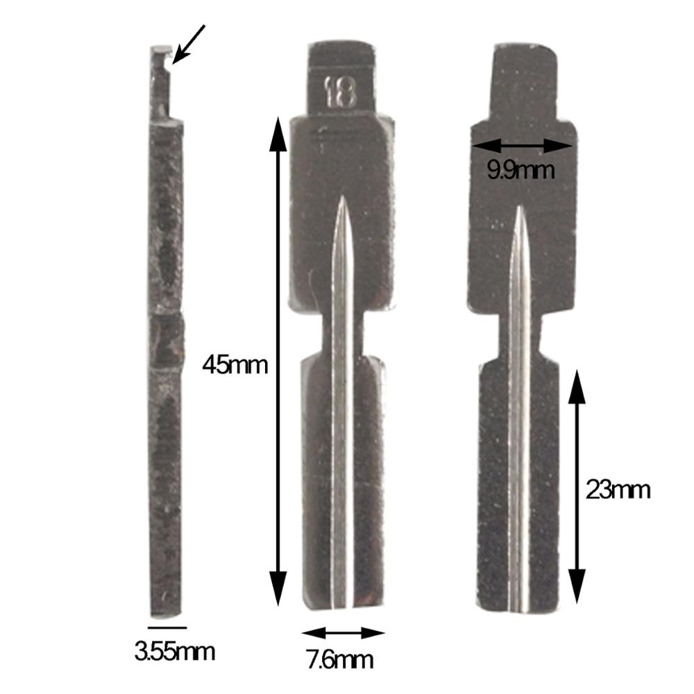 Transponder key fob blank blade for BMW 3 5 7 Z3 SERIES E36 E34 E38 E39 HU58