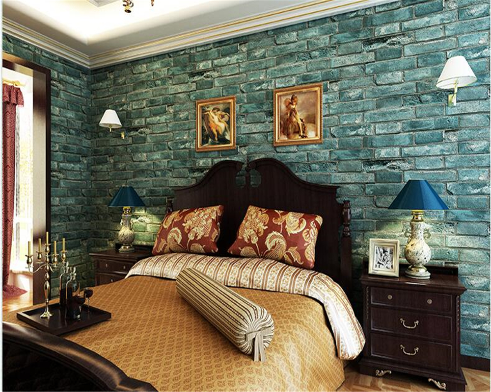 beibehang Fashion personality wallpaper 3D brick Chinese papel de parede 3d wallpaper living room background wall clothing store beibehang 3d wallpaper fashion clothing
