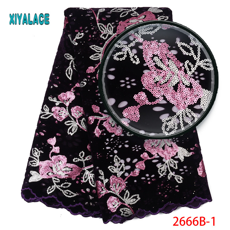 African Lace Fabric Luxury High Quality French Organza Lace Fabric 2019 New Arrival Sequins Lace Fabrics For Wedding YA2666B-1