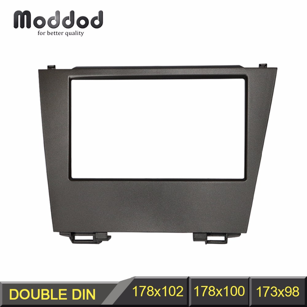 us $40 9 10% off double din cd dvd stereo audio panel for lexus es350 fascia radio es 350 refitting in dash mount install dash kit face plate in 1997 2001 lexus es300 double din radio