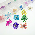 36pieces 1-2cm mini natural Gypsophila Pressed flower with plastic box packing Dried flowers glass globe filler DIY charms