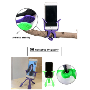 Image 3 - Newest Mini Flexible Tripod for Mobile Phone Smartphone  Phones Stand Hoders Travel Outdoor Portable Lovely Gecko Spider