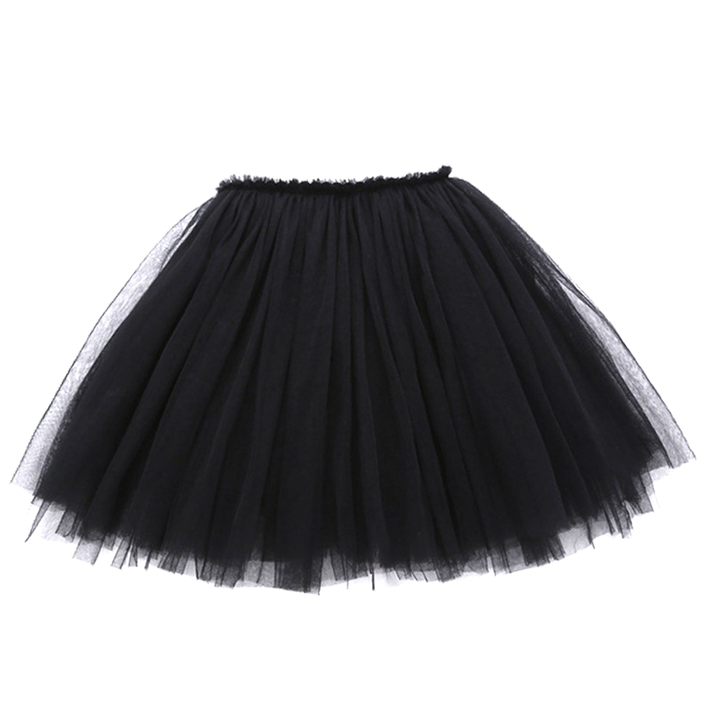 1yrs-12yrs Kids Girl Tutu Tulle Skirt Net Mesh Gauze Children Girl Black Cake Skirt Toddler Summer Mini Short Skirt Baby Clothes lace panel sheer mesh skirt