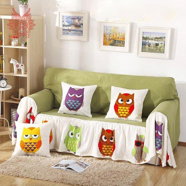 Free shipping Home textile modern style cartoon print 100%cotton canvas <font><b>Sofa</b></font> cover slipcovers 190*260cm <font><b>Sofa</b></font> towel SP1936