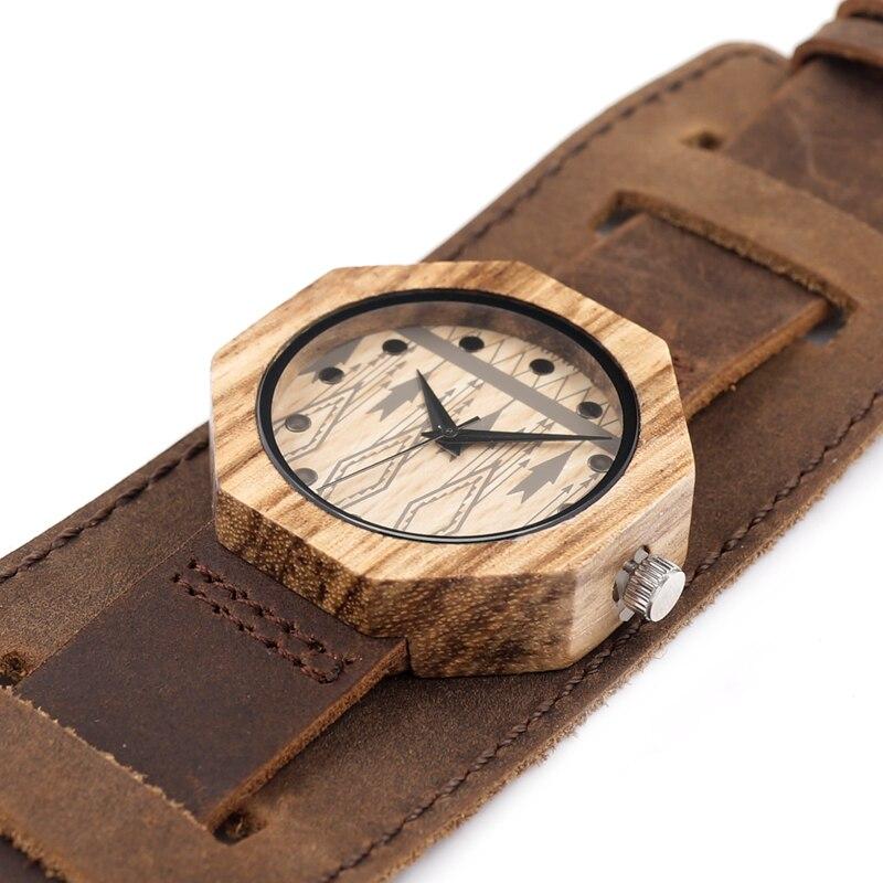 Image 4 - BOBO BIRD V D04 Octagon Wooden Watches Women Luxury Quartz Clock Cool Lady Dress Leather Wristwatch in Gift Boxwristwatch womenwristwatches clockwristwatch quartz watch -