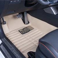 Car Floor Mats Covers top grade anti scratch fire resistant durable waterproof 5D leather mat For Ford Focus Car Styling