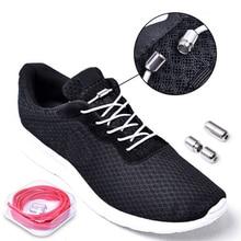 cbc2fd3aa46 1 par perezosos cordones elástico corbata de ronda los cordones de los  zapatos de los niños